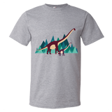 Dinosaur Adventure mens t-shirt heather grey