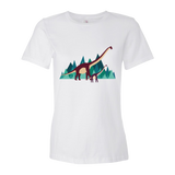 Dinosaur Adventure womens t-shirt white