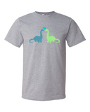 Dino Love men's graphic t-shirt heather grey