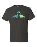 Dino Love men's graphic t-shirt smoke