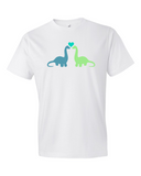 Dino Love men's graphic t-shirt white