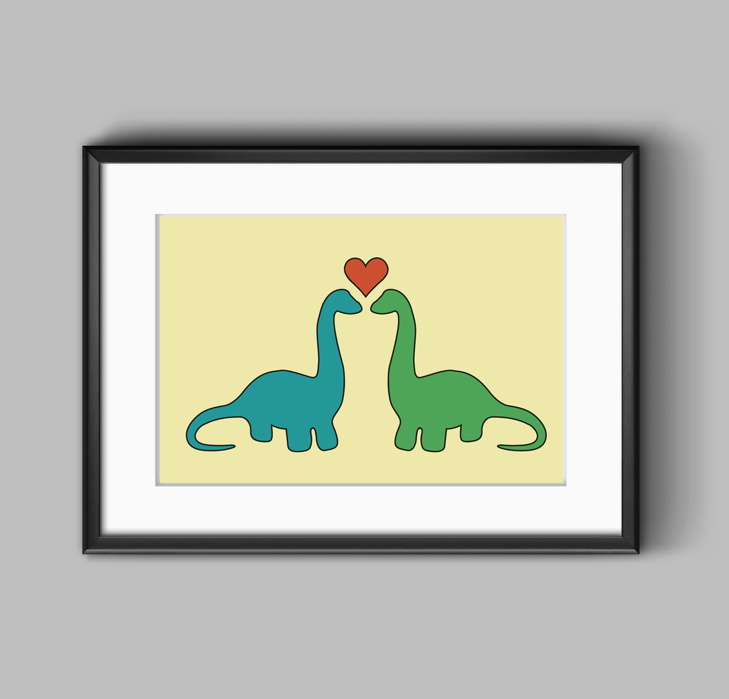 Dino Love Print | Fossilized Fashion
