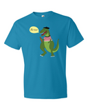 Le Dinosaure men's graphic t shirt caribbean blue