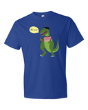 Le Dinosaure men's graphic t shirt royal blue