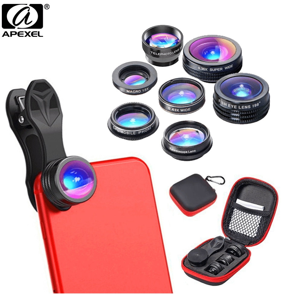 APEXEL 7 In 1 Phone Camera Lens Kit