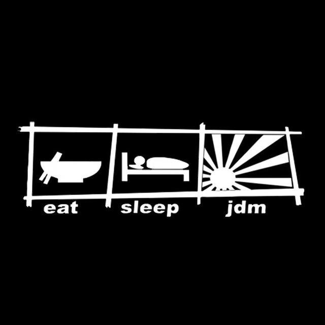 Eat Sleep JDM Sticker Decal