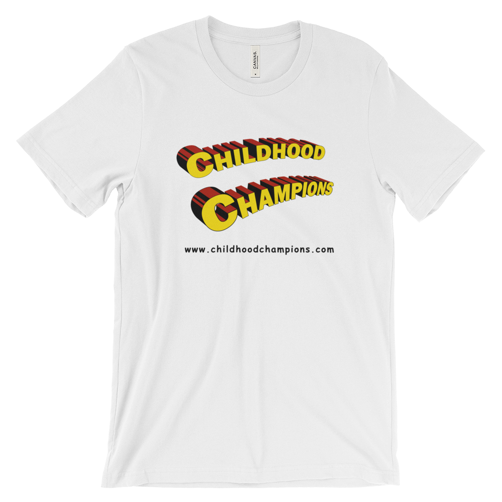 Childhood Champions Superhero unisex short sleeve tee-shirt