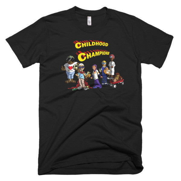 Childhood Champions short sleeve unisex tee-shirt