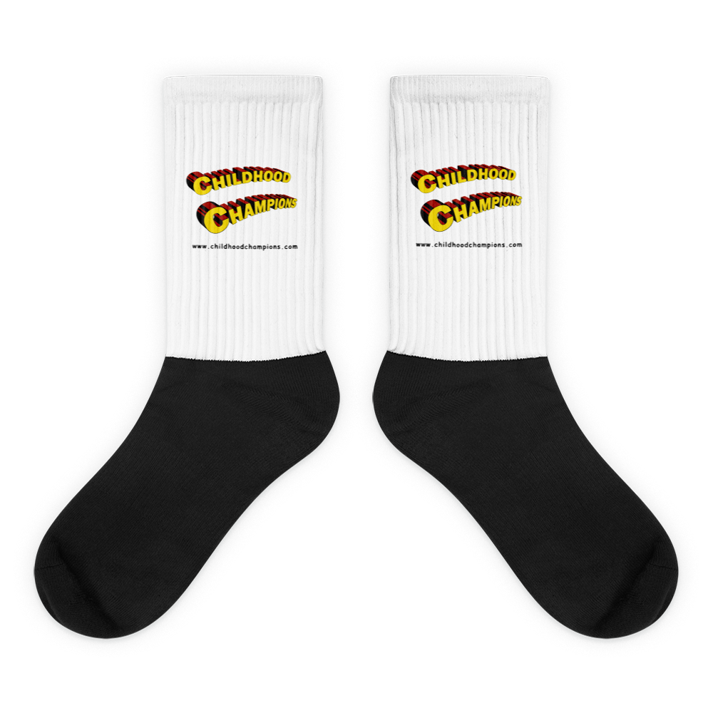 Childhood Champions Superhero black foot socks