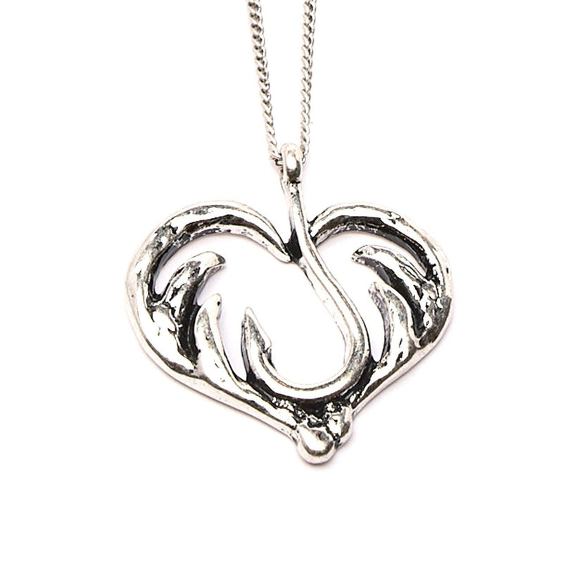 Necklace - Love Fishing And Hunting Heart Necklace