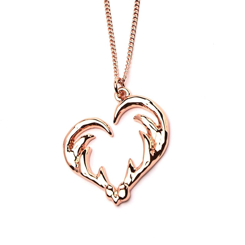 Necklace - Love Hunting Antler Heart Necklace