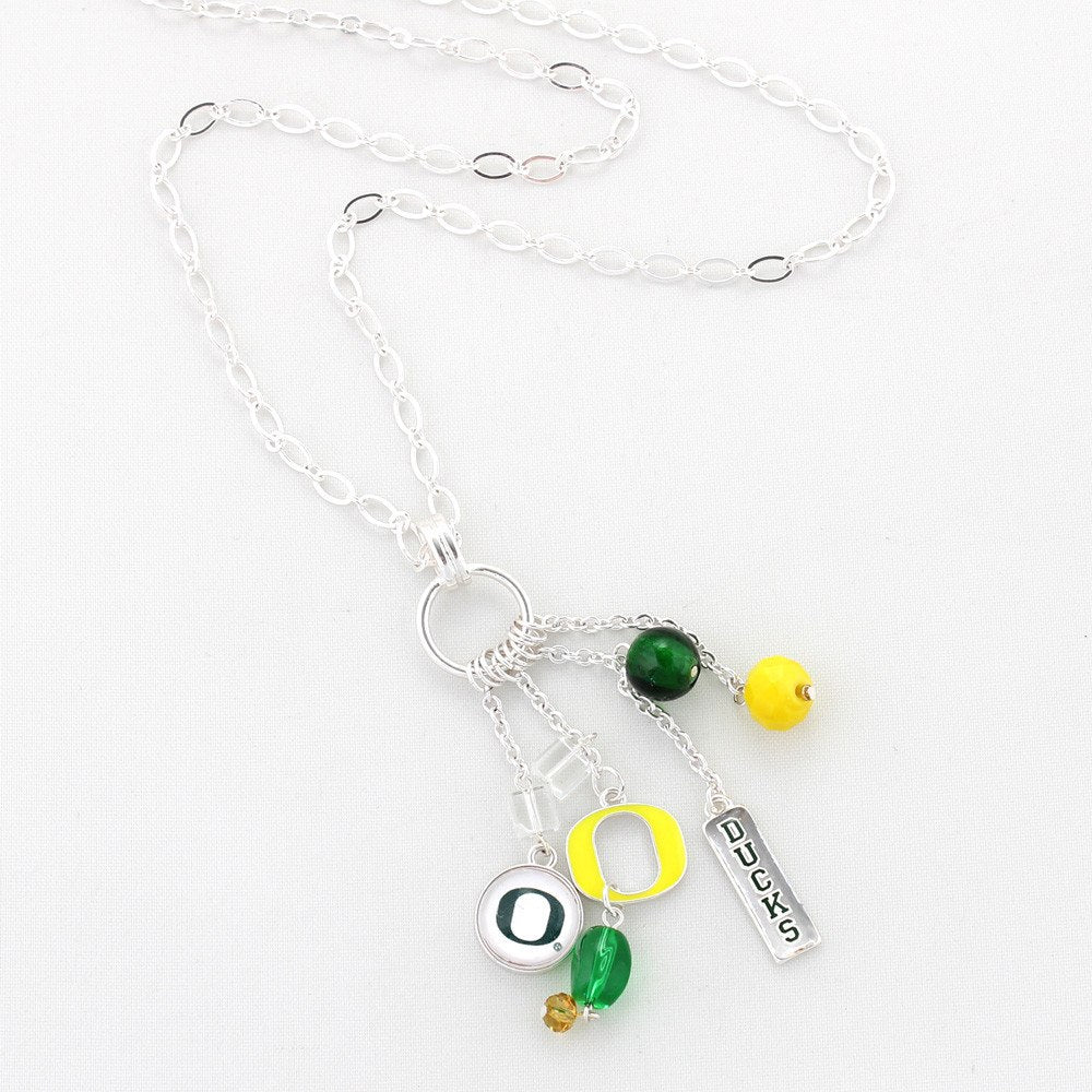 Necklace - Oregon Ducks Cluster Necklace