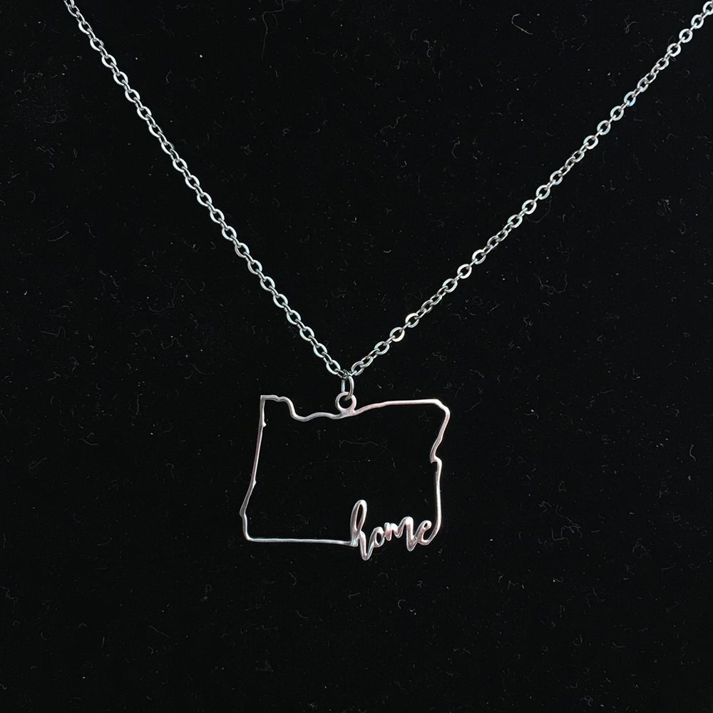 Necklace - Oregon Home Necklace