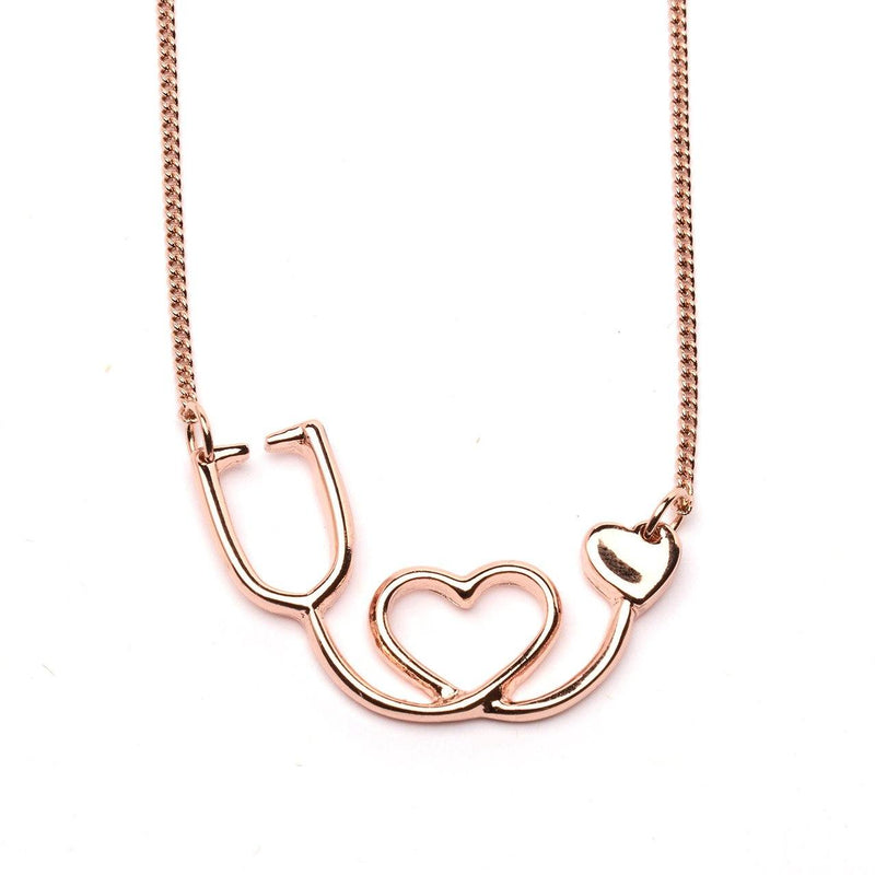 Necklace - Stethoscope Necklace - Heart - Made In The USA