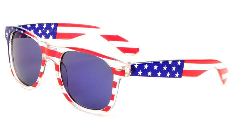 Sunglasses - KIDS - Clear American Flag Sunglasses