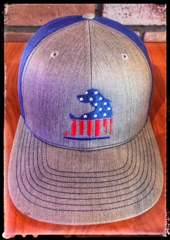 TKO Patriotic Trucker Hat Blue Mesh