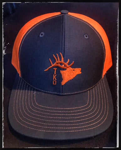 TKO Blaze Orange Elk Trucker Hat