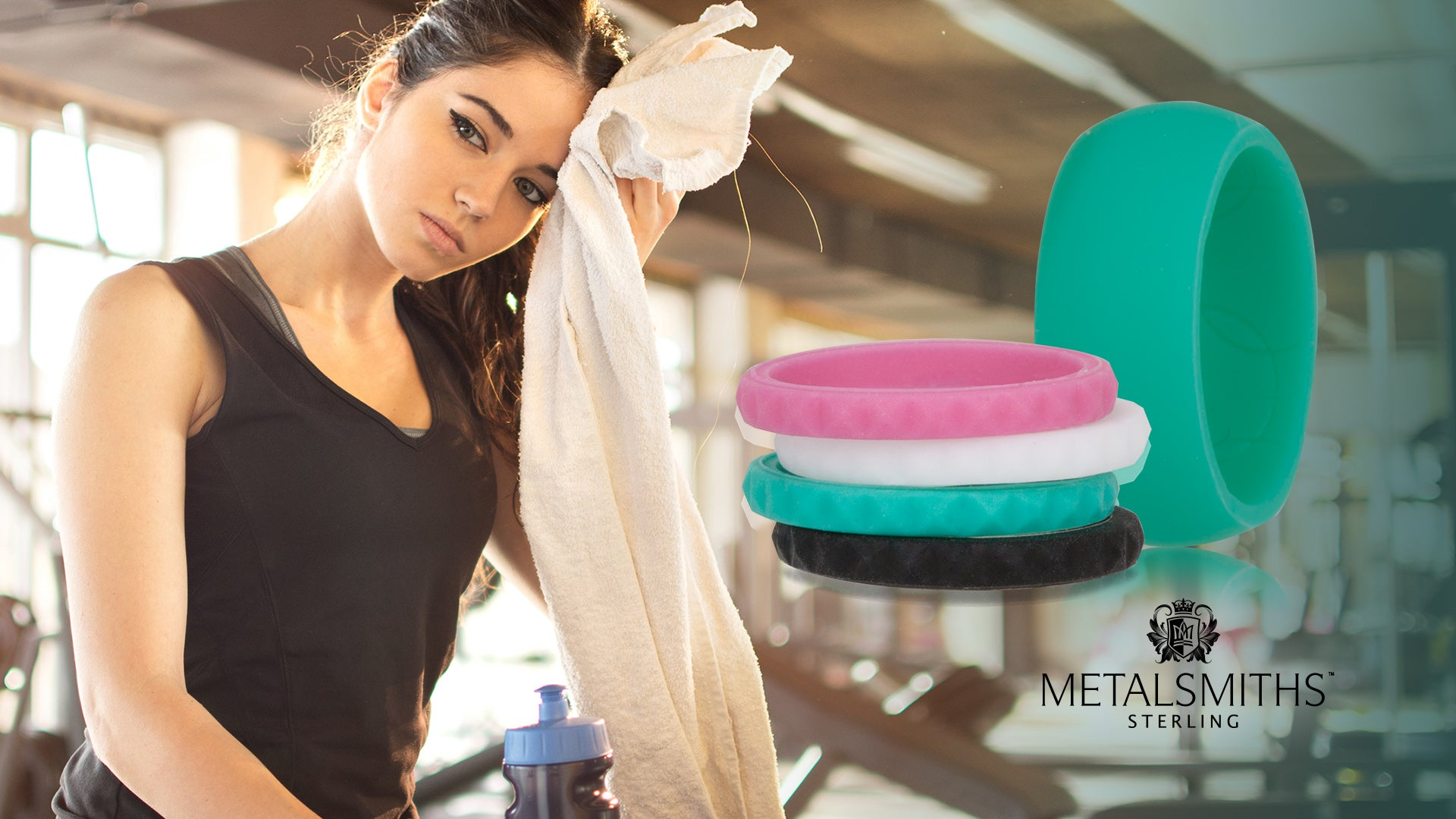 Metalsmiths Sterling Silicone Active Bands