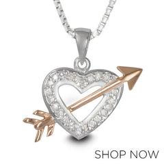 Metalsmiths Sterling Silver Heartbreaker Pendant