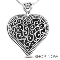 Metalsmiths Sterling Silver Panos K Heart Pendant