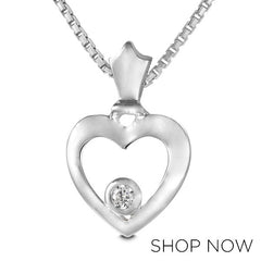 Metalsmiths Sterling Crown Heart Pendant