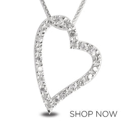 Metalsmiths Sterling Pavé Heart