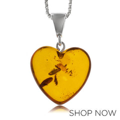 Metalsmiths Sterling Amber Heart Pendant