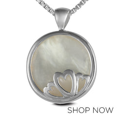 Metalsmiths Sterling Silver Mother of Pearl Pendant