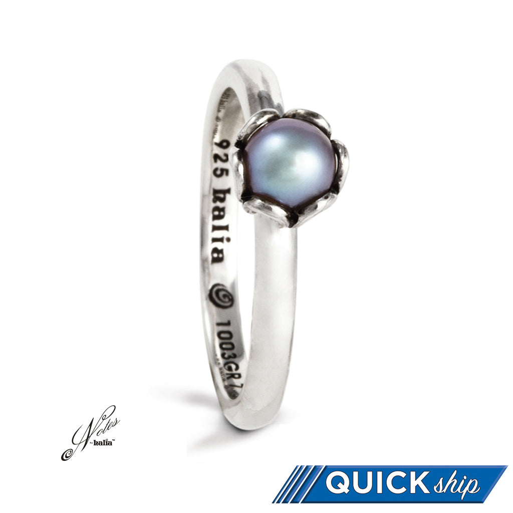 Deep Waters Pearl Stacking Ring - Quick Ship