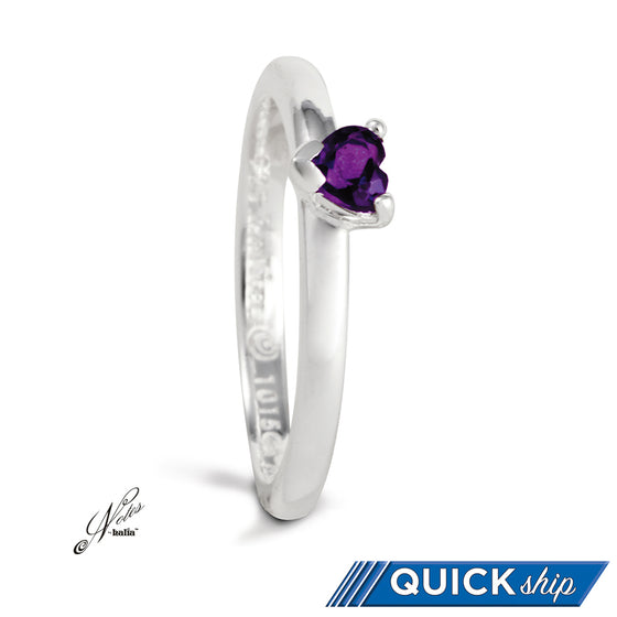 Twinkle Tryst Stacking Ring - Amethyst, Garnet, Cubic - Quick Ship