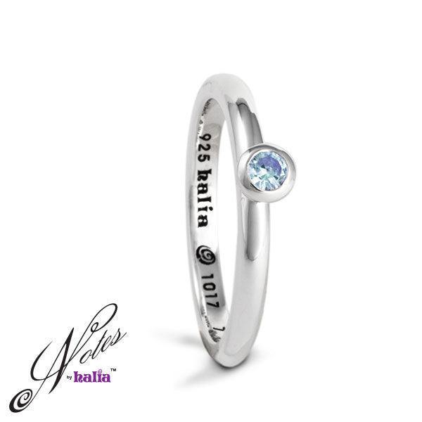 Debutante Dazzle Stacking Ring - Blue Topaz, Pink or Sparkling Cubic - Metalsmiths Sterling™ Canada
