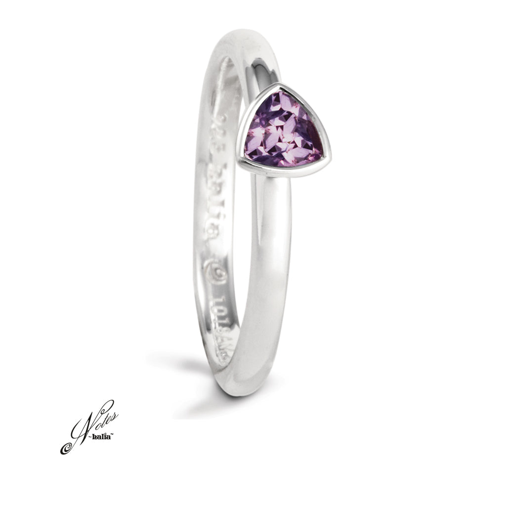 Radiant Grace Stacking Ring - Amethyst