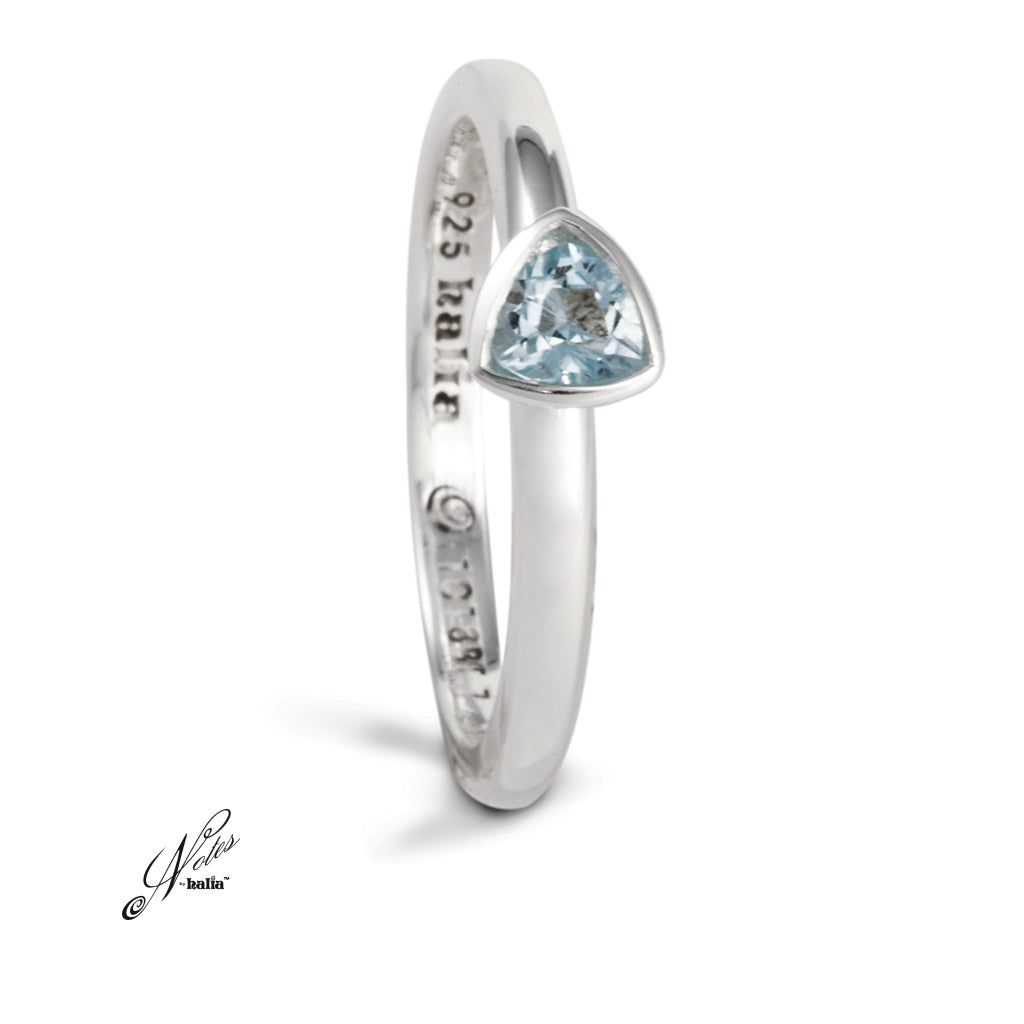 Radiant Grace Stacking Ring - Blue Topaz