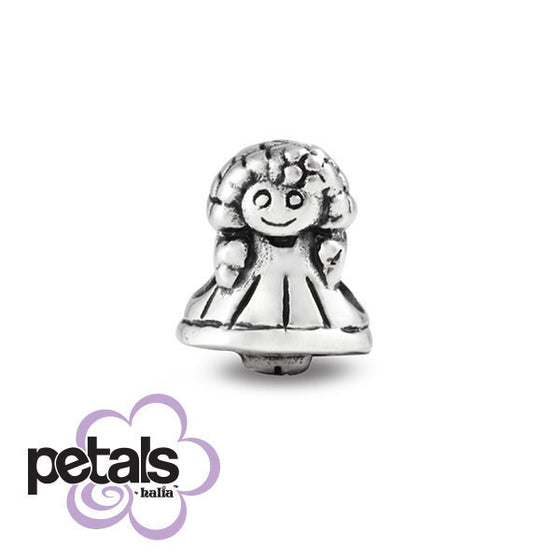 Dress-Up Doll -  Petals Sterling Silver Charm