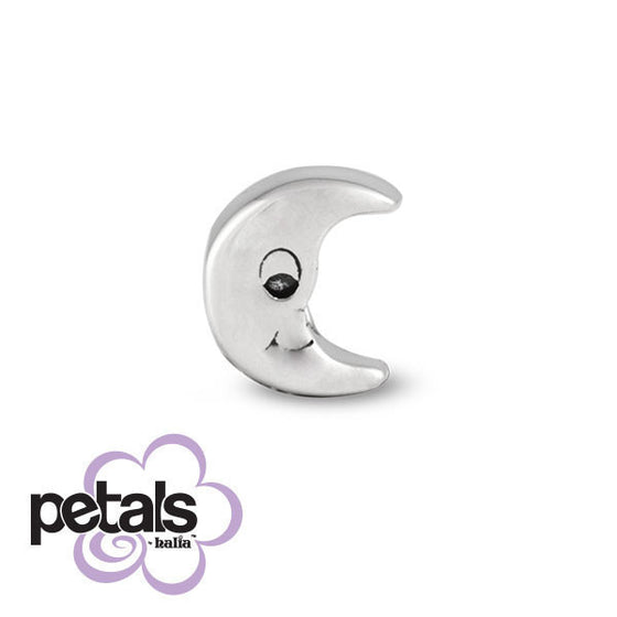 Man in the Moon -  Petals Sterling Silver Charm