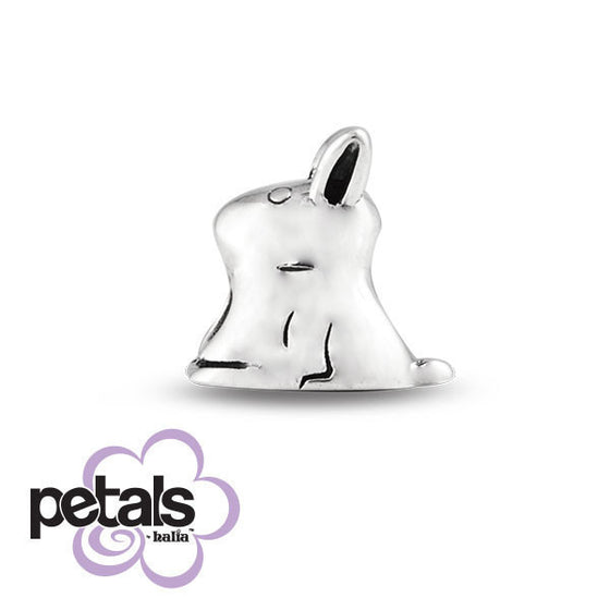 Little Bunny -  Petals Sterling Silver Charm