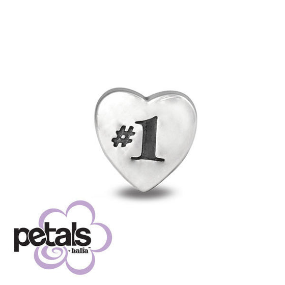Number One Girl -  Petals Sterling Silver Charm
