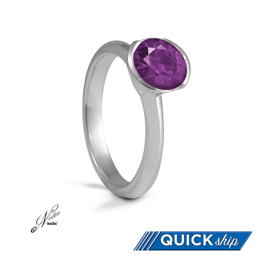 Under Your Spell Stacking Ring - Red, Violet, Cubic