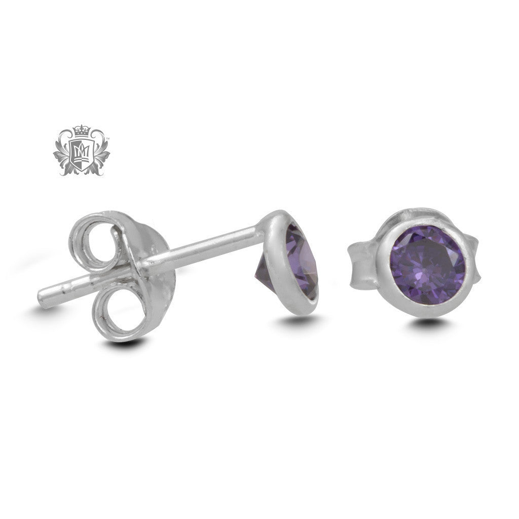 Birthstone Stud Earrings -  Gemstone Earrings - 9