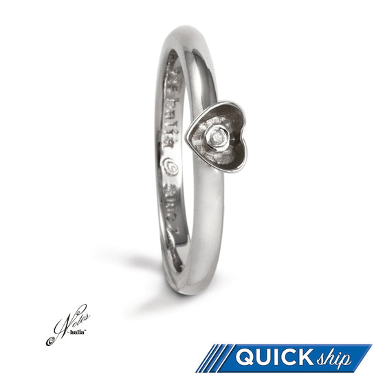 Hope Springs Diamond Stacking Ring - Quick Ship