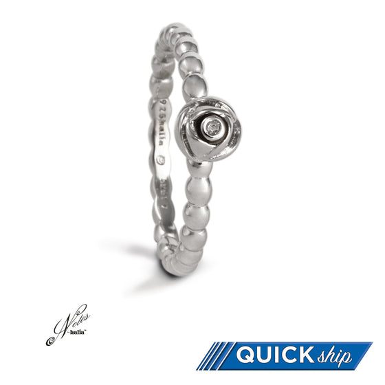 Rosy Future Diamond Stacking Ring - Quick Ship
