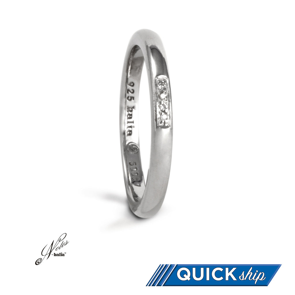 Centre of Attention Diamond Stacking Ring - Quick Ship