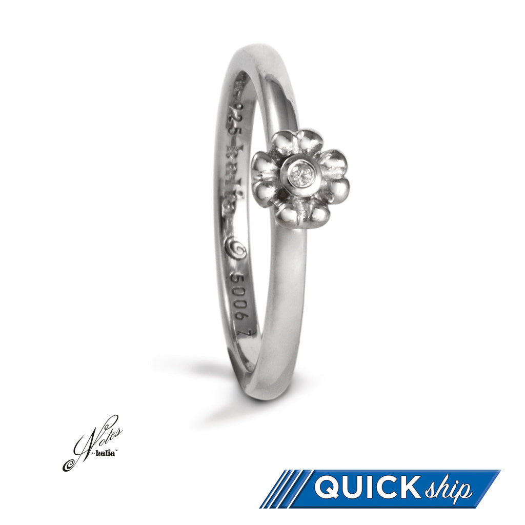 First Bloom Diamond Stacking Ring - Quick Ship
