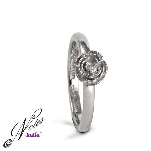 Rose Parade Diamond Stacking Ring - Metalsmiths Sterling™ Canada
