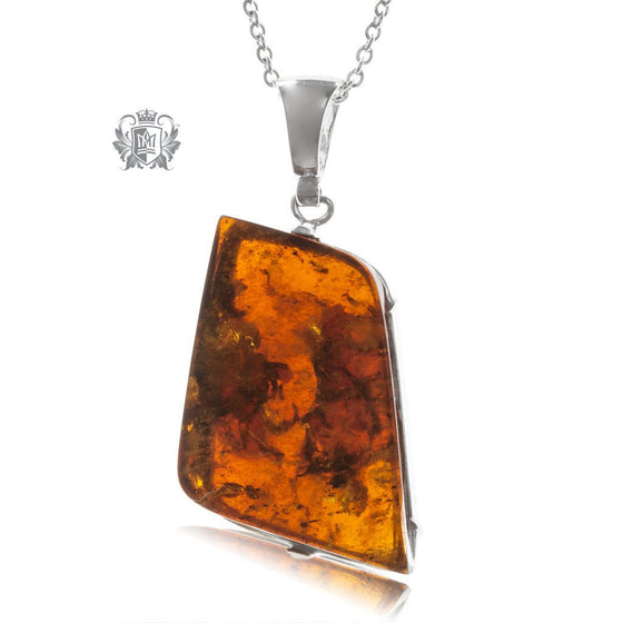 Amber Freeform Statement Pendant