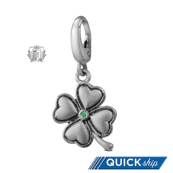 Quick Ship Four Leaf Clover Charm -  Charm