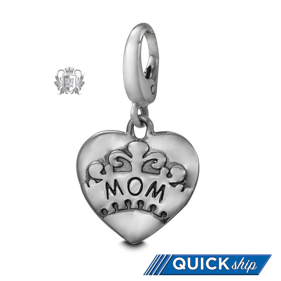 Quick Ship Mom Heart Charm