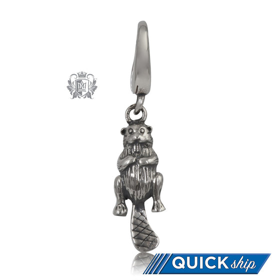 Sterling Silver Beaver Charm - Quick Ship