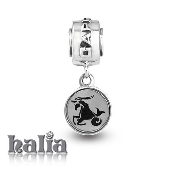 Capricorn -  Sterling Silver Dangling Charms