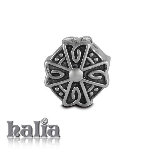 Celtic Shield -  Sterling Silver Bead